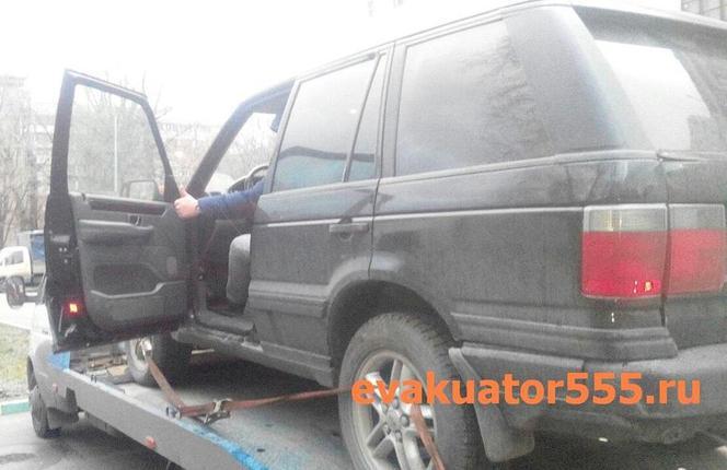 эвакуатор - 555 дешево везет Range Rover - Land Rover (Рандж-Ровер) по Москве